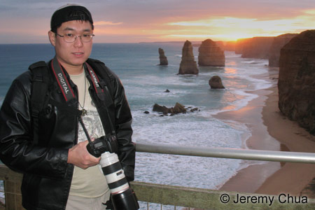 Jeremy at the 12 Apostles along the Great Ocean Road about 280km away from Melbourne.